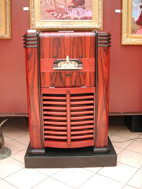 Radio Console Furniture Art Deco Console Radio